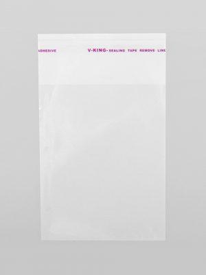 ПРОЗРАЧНЫЕ ПАКЕТЫ С КЛЕЕВЫМ КЛАПАНОМ 6х6 см, 25 мкм (20 шт)